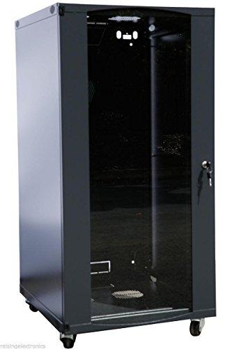 22U Wall Mount Network Server Cabinet Rack Enclosure Glass Door Lock 600MM Deep (Server Rack Glass Door compare prices)