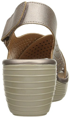 Leather Reedly Clarks Metallic Sandal Variel Women's Wedge 0Y8w7anCx