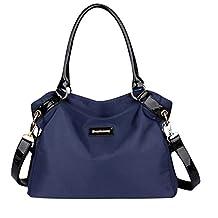 KISS GOLD(TM) Women's Designer Handbag Water Resistant Nylon Tote Shoulder Bag