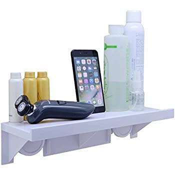 Easy Eco Life Suction Cup Floating Shelf Bathroom Shower Rack Window Mirror Wall Corner