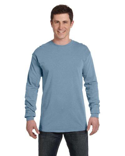(Comfort Colors 6014 Adult Heavyweight Ringspun Long Sleeve T-Shirt - ICE Blue -)