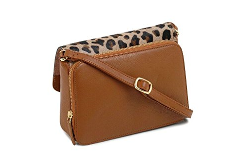 Bag Tula Animal Faux Leather 12677 Print Tan Leopard Collection Shoulder qr0IrF