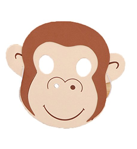 Cute Cartoon Zoo Face Masks for Kids, Animal Masks for Birthday Party Favors Dress-up Costume (Monkey) ()