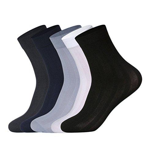 Nanxson(TM) Mens Summer Sheer Socks Ultra Thin Crew Socks Packs of 10 WZMD0005