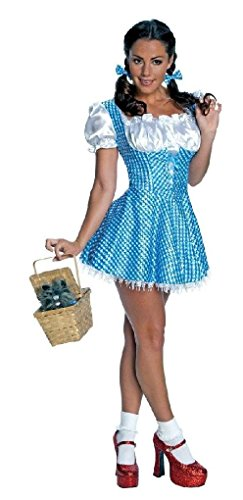 Ponce Dorothy Costume Wizard of Oz Blue Sparkle Dress Sexy Size (Gothic Dorothy Costume)