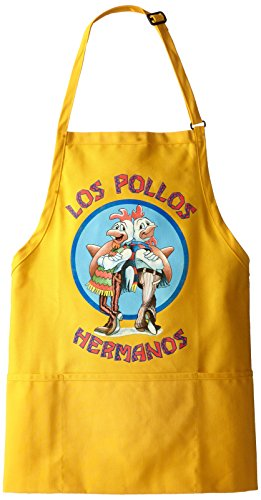 Breaking Bad Men's Los Pollos Hermanos Apron, Yellow, One Size -