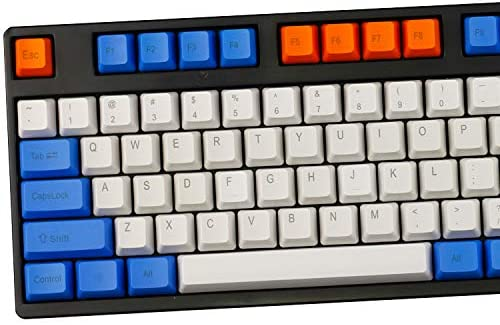 MX Switch Mechanical Keyboard Compatible with 104////87//61 Keys,3 Positive//Side Engraved//No Engraved Keycaps OEM Height Pbt Material