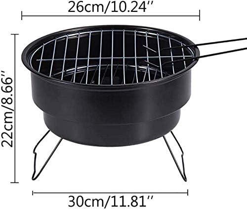 LUCKING Barbecue au Charbon de Bois en Acier Inoxydable Grill Pliable Portable pour Barbecue Party Garden Camping