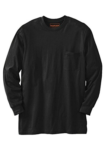 Airborne Long Sleeve T-shirt (Kingsize Men's Big & Tall Heavyweight Long-Sleeve Tee Shirt With Pocket, Black)
