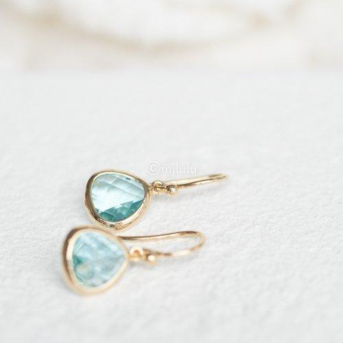 Simulated Aquamarine Drop Earrings