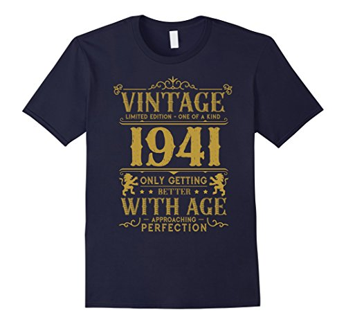 Mens Limited Edition Legends Born In 1941 Gift For 76 Years Old 2XL Navy