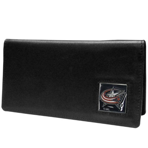 NHL Columbus Blue Jackets Executive Genuine Leather Checkbook Cover