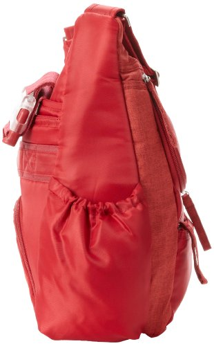 Lug Hula Hoop Carry-All Messenger, Crimson Red, One Size