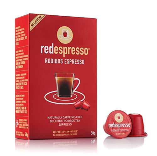 Red Espresso - Rooibos Tea Capsules - Nespresso Compatible - 10 Capsules - Vegan, Non GMO, Organic, Antioxidant, Age-Defying