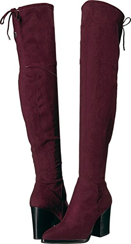 Adora Toe Knee Boots Marc Fabric Pointed Bordeaux Over Womens Fashion Fabric Bordeaux Fisher pUqHnqE6X