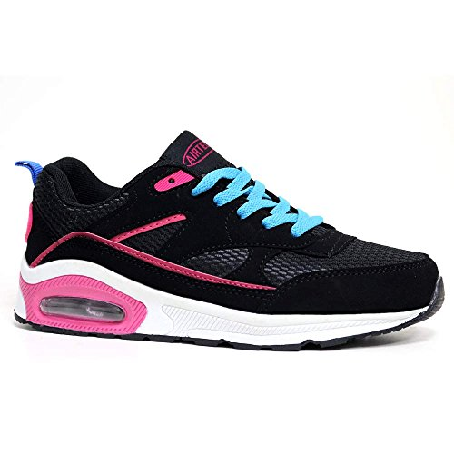 Shoes Max Shock 90 Sports RUSHOUR Concept Gym Trainer Bubble 3 Black Running Size Blue Fitness Ladies Air 8 Absorbing gW1qgO