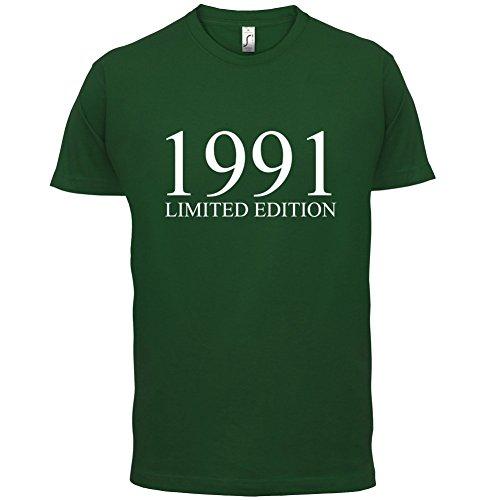 1991 Limierte Auflage / Limited Edition - 26. Geburtstag - Herren T-Shirt - Flaschengrün - M