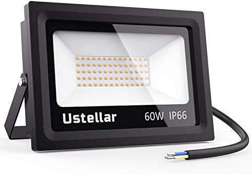 Ustellar 60W Foco Proyector LED, LED Floodlight 4500lm Impermeable ...