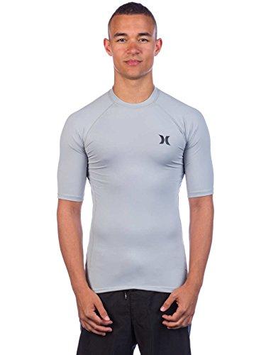 Pro Short Sleeve Rash Guard - Hurley Pro Light Short Sleeve Rashguard Medium Cool Grey/black