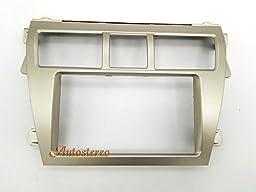 Autostereo Car Stereo Radio Fascia Facia Panel Complete Fitting Kit TOYOTA Vios 2007-2012 Belta 2005-2008 Yaris Sedan 2006+ Silver Car Radio Stereo Facia Frame