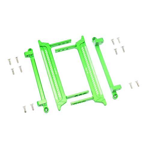 - Hisoul Hot  1/10 RC Car Upgrade Metal Pedal Foot Side Steps for RC Crawler 1/10 Tamiya CC-01 (2Pcs) (♥ Green)
