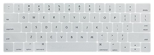 """PapyHall Colorful Silicone Protector Keyboard Cover Skin Keypad Dust-proof Membrane for 2017&2016 release Macbook Pro 13"""" Touch Bar A1706 and Macbook Pro 15"""" Touch Bar A1707 - Silver"""