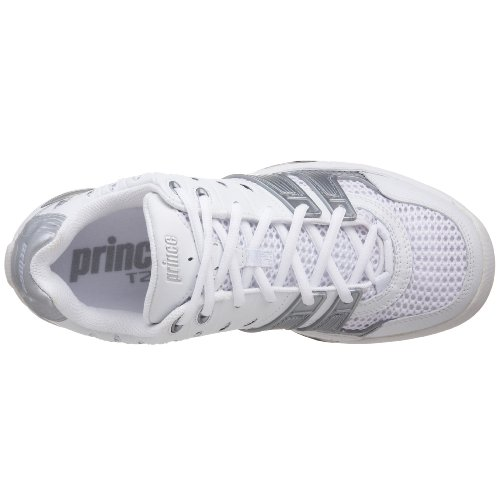 Shoe T22 White Prince Silver Tennis Women's p7xzxqwt