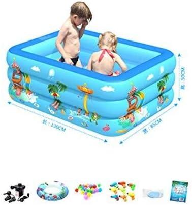 インフレータブル緊縛プール、子供用インフレータブルプールガーデンパーティースイミングプールガーデン屋外スイミングプールインフレータブル子供 (Size : 130*85*50)