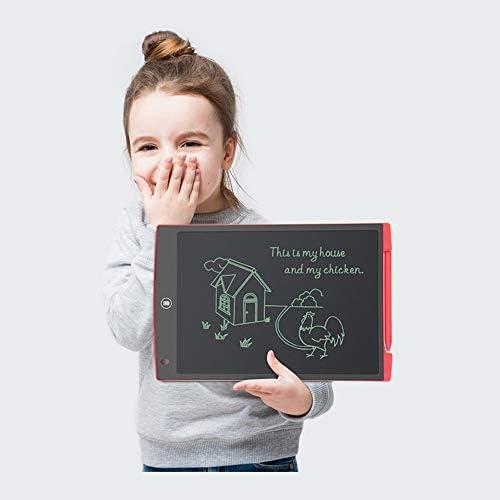 """Dmxiezib Tragbares 12""""-LCD-Schreibtablett Digitales Zeichentablett Handschrift-Pads Elektronisches Tablett Board Ultradünnes LCD-Schreibtablett Schwarz Rot Blau (Color : Red)"""