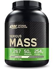 Optimal näring allvarlig massproteinpulver med hög kalorimassa gainer med vitaminer, kreatinmonohydrat och glutamin, kakor och grädde, 8 portioner, 2,27 kg, förpackning kan variera