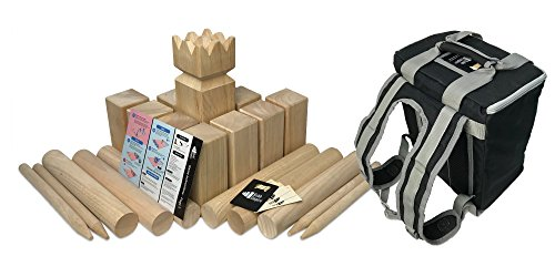 - Kubb Empire Tournament Edition Premium Hardwood Set with Backpack
