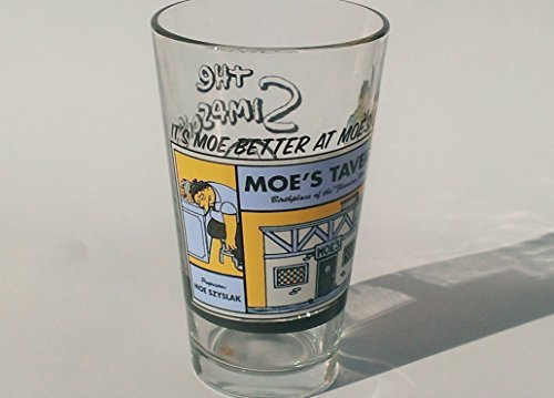 (Moe Szyslak & Tavern Beer Pint Glass - Moe better at Moes)