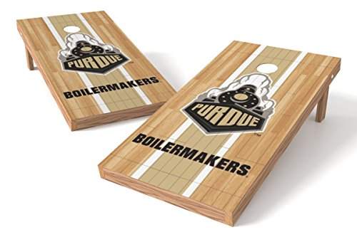 Wild Sports NCAA College Purdue Boilermakers 2' x 4' Hardwood Authentic Cornhole Game Set