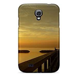 Anti-scratch And Shatterproof Sunset Boardwalk Phone Case For Galaxy S4/ High Quality Tpu Case