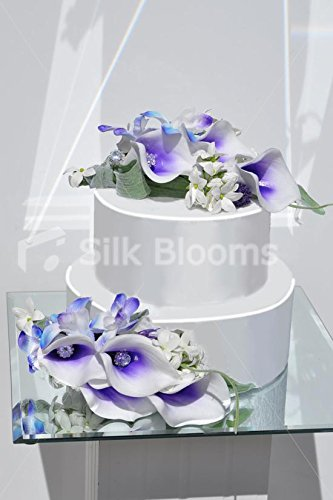 Tropical Purple Picasso Lily White Stephanotis And Galaxy Blue
