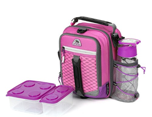Work Zone Compartment Dual (Arctic Zone High-Performance Dual-Compartment Lunch Box In Pink Includes Ice Pack, Food Container And Water Bottle)