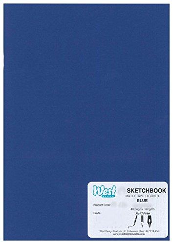 RS261759 A3 Sketchbook MATT Blue 140g (140gsm Matt)