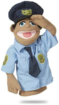 & Doug Police Officer PuppetDetachable Wooden Rod for Animated Gestures