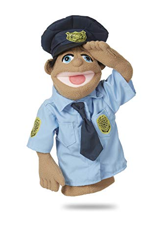 Melissa & Doug Police Officer Puppet with Detachable Wooden Rod for Animated Gestures (Carlos Puppet)