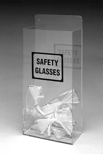 Brady EHMVSD Tabletop or Wall Mount Safety Goggles/Glasses Dispenser