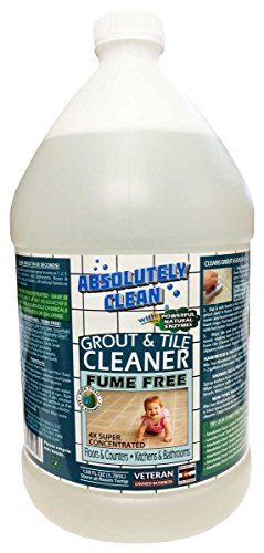 AMAZING GROUT CLEANER, PROFESSIONAL STRENGTH, FUME FREE: Natural Enzymes Clean the Dirtiest Grout Quickly & Easily, Best Grout Cleaner For Tile and Grout, Floors, Bathrooms, Counters, USA - Care Floor Tile