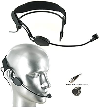 905f2cf0a08 Amazon.com: Noise Cancelling Headset Microphone for Shure Wireless Mic  Systems_Capture the Most of User's Own Voice: Musical Instruments