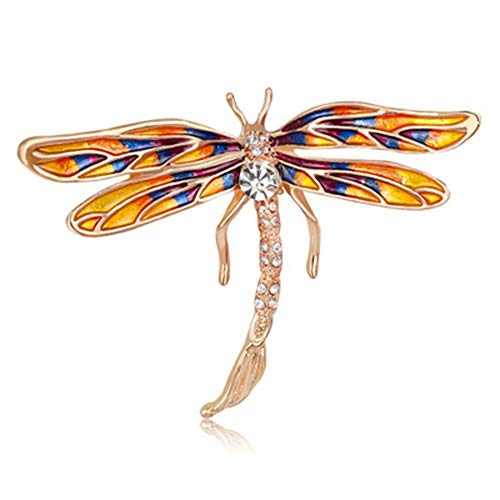 Dragonfly Insect Vintage Rhinestone Jewelry Bridal Accessories Gift Brooch Pin