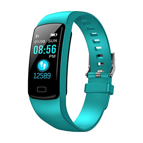 Kanzd Smart Watch Sports Fitness Activity Heart Rate Tracker Blood Pressure Stopwatch (Mint Green)
