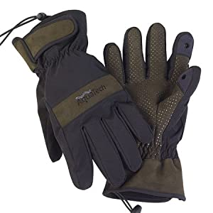 AquaTech Sensory Gloves - Large - Black/Moss