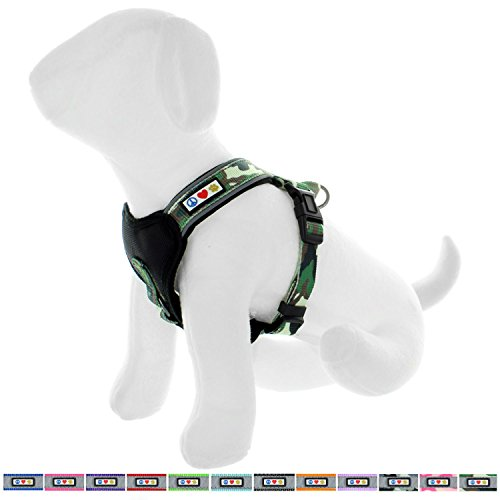 Pawtitas Padded Harness Puppy Harness Dog Harness Reflective Harness Behavioral Harness Training Harness Extra Small Harness Camouflage Green Harness
