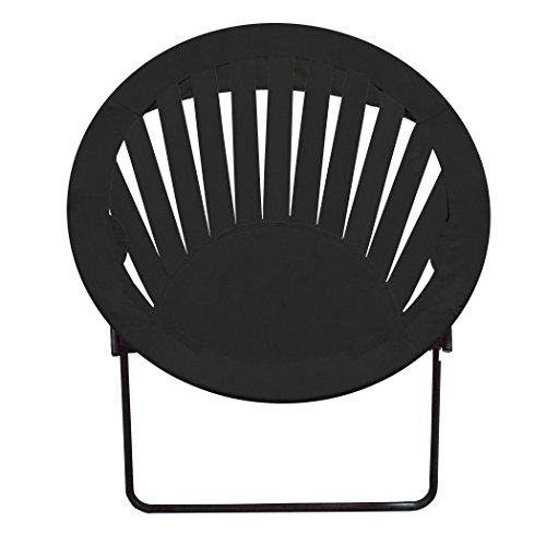 Impact Canopy Sunrise Round Bungee Chair, Lightweight Portable Folding Chair, Black by Impact Canopy