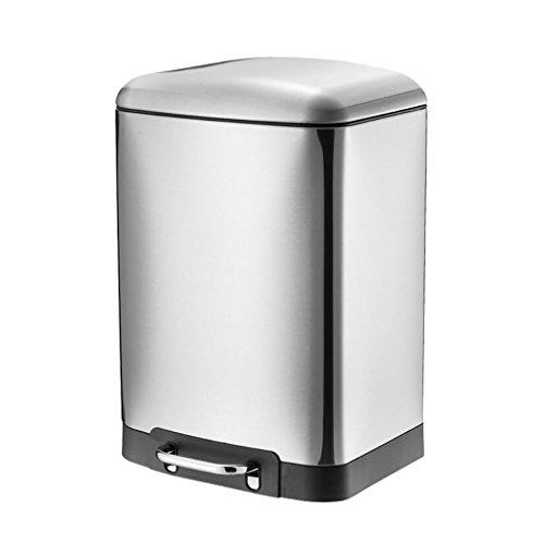 FeN Stainless Steel Trash Can,Pedal Household Waste Bin,Kitc