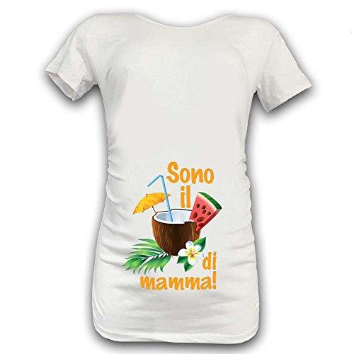 Manica Di Bianca M Shirt Premaman Arancione Corta T Maglia Cocco Grafica Mamma cBvYIcpWqz