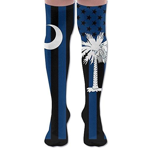 South Carolina State Flag Graphic USA Styling Crew Socks Wholesale Tube Volleyball Quality Tube Socks (South Carolina Silk)